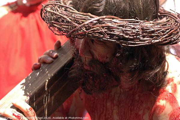Via Dolorosa Easter Procession, Good Friday, 2007 Canvas Print by PhotoStock Israel