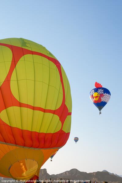 Hot Air Balloon show  Canvas Print by PhotoStock Israel
