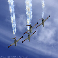 Buy canvas prints of IAF Fouga Magister aerobatics display by PhotoStock Israel
