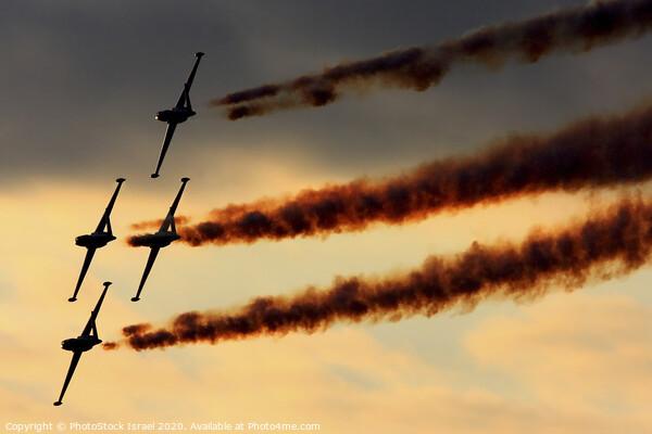 IAF Fouga Magister aerobatics display Framed Print by PhotoStock Israel