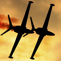 Buy canvas prints of IAF Fouga Magister aerobatics display by PhotoStock Israel
