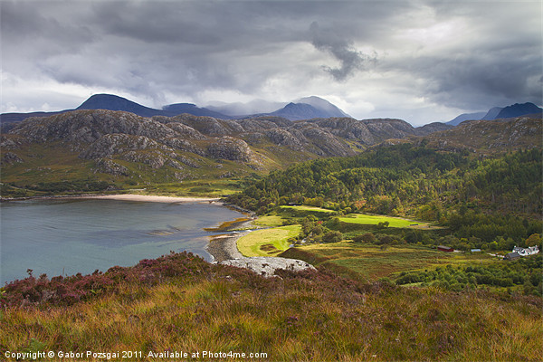 View of the Gruinard bay Canvas print by Gabor Pozsgai