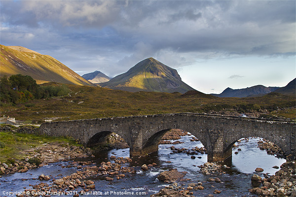 Sligachan and Marsco mountain in background Canvas print by Gabor Pozsgai