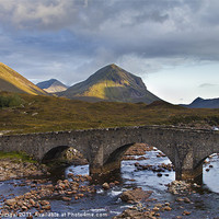 Buy canvas prints of Sligachan and Marsco mountain in background by Gabor Pozsgai