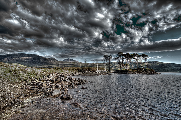 Loch in the Scottish Highlands Canvas print by Gabor Pozsgai
