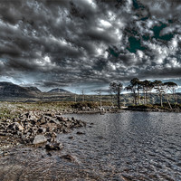 Buy canvas prints of Loch in the Scottish Highlands by Gabor Pozsgai