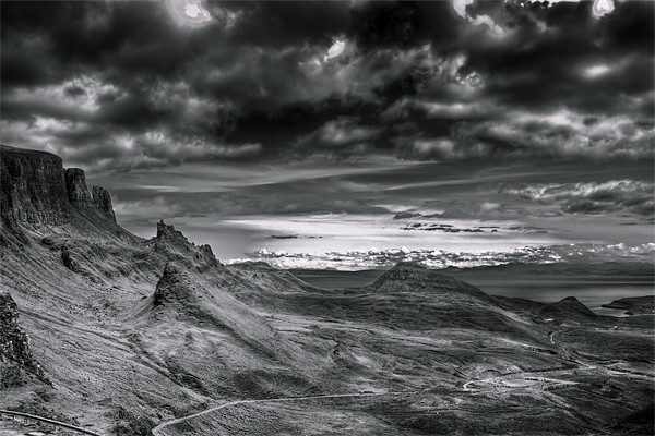 Quiraing on Isle of Skye, Scotland Canvas print by Gabor Pozsgai