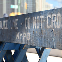 Buy canvas prints of New York City Life Do not cross by mick gibbons