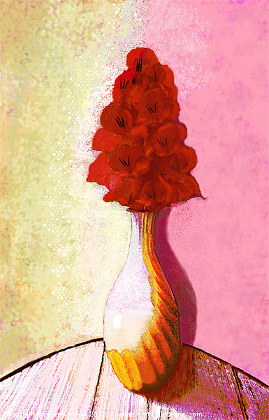 floral expressionism Canvas print by joseph finlow canvas and prints