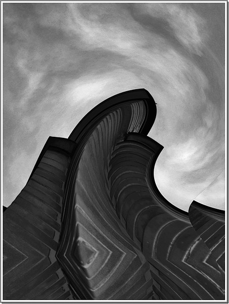 Edges From The Sky Print by Erzsebet Bak