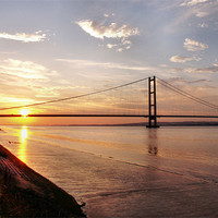 Buy canvas prints of Humber Bridge Sunset by Sarah Couzens