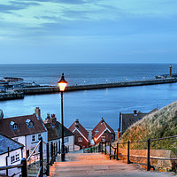 Buy canvas prints of Whitby After Sun Down by Sarah Couzens