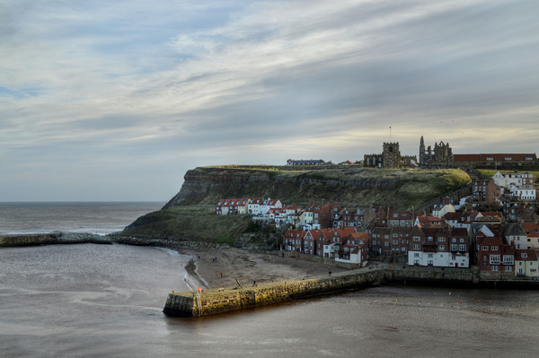 Whitby Harbour Canvas print by Sarah Couzens