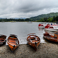 Buy canvas prints of Ambleside Boats by Sarah Couzens
