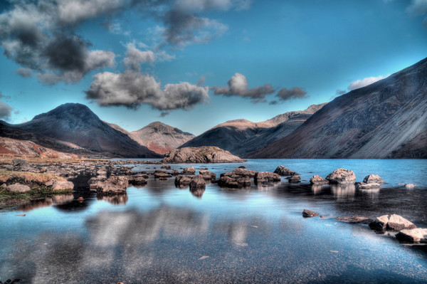 Wastwater on the Rocks Canvas print by Sarah Couzens