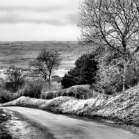 Buy canvas prints of West Heslerton | B&W by Sarah Couzens