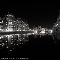Buy canvas prints of Salford Quays Reflections by James Lavott