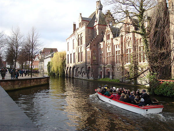 Canals of Bruges Acrylic by David Jackson