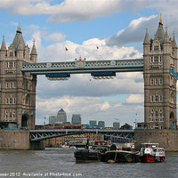 Buy canvas prints of Tower bridge by mark blower