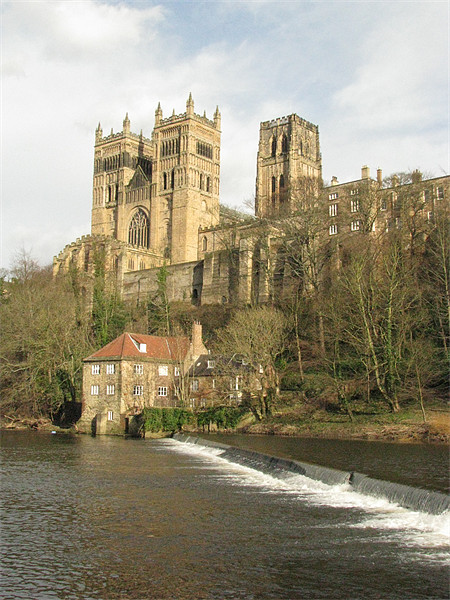 Durham Cathedral Canvas Print by John Willsher