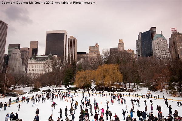 Skaters in Central Park NYC Canvas print by James Mc Quarrie