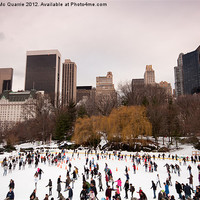 Buy canvas prints of Skaters in Central Park NYC by James Mc Quarrie