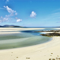 Buy canvas prints of Luskentyre Beach Isle of Harris Scotland by Jacqi Elmslie