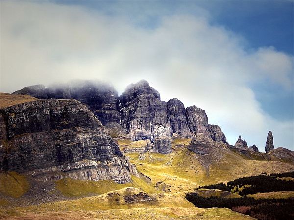 Skye, The Storr and The Old Man Canvas print by Jacqi Elmslie