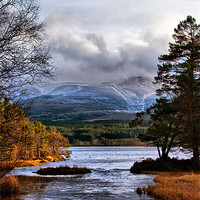 Buy canvas prints of The Coming of Winter to the Cairngorms by Jacqi Elmslie