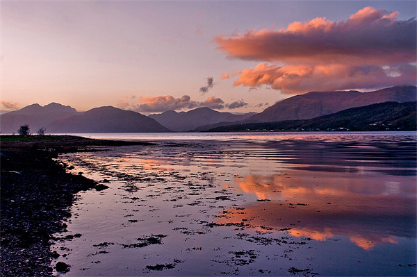 November Sunset Loch Leven Canvas print by Jacqi Elmslie
