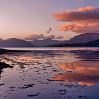 Buy canvas prints of November Sunset Loch Leven by Jacqi Elmslie