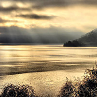 Buy canvas prints of Misty Loch Ness by Jacqi Elmslie