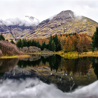 Buy canvas prints of Scotland Mountain Reflections by Jacqi Elmslie