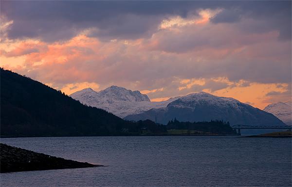 Ballachulish Sunset Scotland Canvas print by Jacqi Elmslie