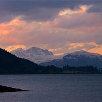 Buy canvas prints of Ballachulish Sunset Scotland by Jacqi Elmslie