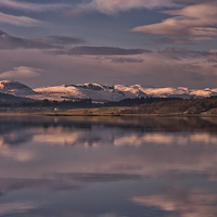 Buy canvas prints of Sundown on the Beauly Firth by Jacqi Elmslie