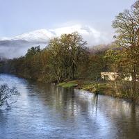 Buy canvas prints of Misty Scottish Mountain  by Jacqi Elmslie