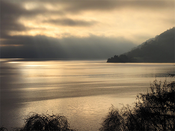 Moody Loch Ness, Scotland Canvas print by Jacqi Elmslie