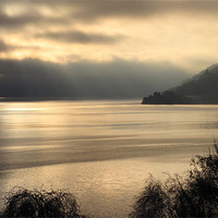 Buy canvas prints of Moody Loch Ness, Scotland by Jacqi Elmslie