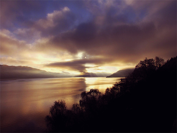 Sunset Over Loch Ness Canvas print by Jacqi Elmslie