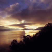 Buy canvas prints of Sunset Over Loch Ness by Jacqi Elmslie
