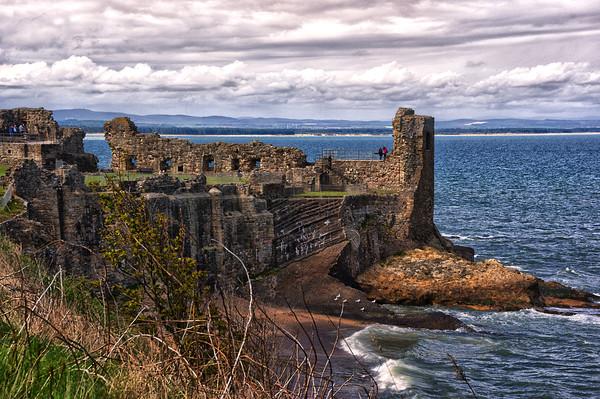 St Andrews Castle Ruins Canvas print by Jacqi Elmslie