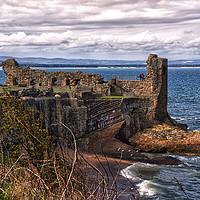 Buy canvas prints of St Andrews Castle Ruins by Jacqi Elmslie