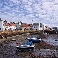 Buy canvas prints of St Monans Harbour Fife by Jacqi Elmslie