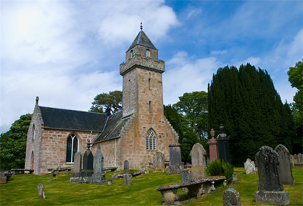 Cawdor Church and Graveyard Canvas Print by Jacqi Elmslie
