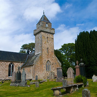 Buy canvas prints of Cawdor Church and Graveyard by Jacqi Elmslie