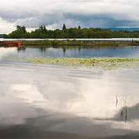 Buy canvas prints of Evening Light on Lake Menteith by Jacqi Elmslie