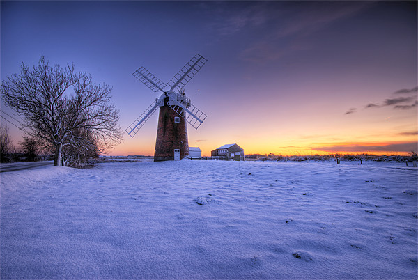 Horsey Mill. Canvas print by Mark Squirrel