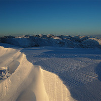 Buy canvas prints of Beinn Eich Summit in Snow by James Buckle