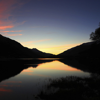 Buy canvas prints of  Loch Voil Sunset by James Buckle